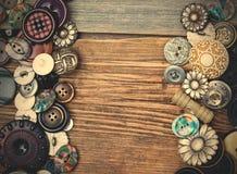 Set roczników guziki z kopii przestrzenią Zdjęcia Royalty Free