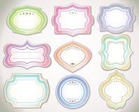 Set roczników majchery produkt i etykietki. Obrazy Royalty Free