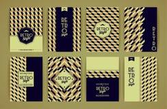 Set roczników Retro tła Fotografia Stock