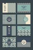 Set roczników Retro tła Obraz Stock