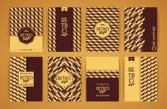 Set roczników Retro tła Obrazy Stock