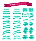 Set roczników sztandary W 2 stylach Zdjęcie Stock