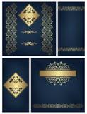 Set roczników zaproszenia royalty ilustracja