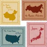 Set roczników znaczki Obraz Royalty Free