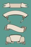 Set rocznik antyczne ślimacznicy faborki z przestrzenią dla teksta i Fotografia Stock
