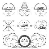 Set rocznik odznaki ilustracja wektor