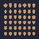 Set rocznik odznaki kształty Ilustracja Wektor