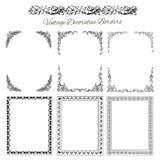 Set rocznik ornamentacyjne granicy Obraz Stock