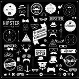 Set rocznik projektować projekta modnisia ikony wektor Zdjęcia Stock