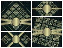 Set rocznik ramy i oryginał karty Zdjęcia Stock