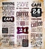 Set rocznik Retro kawa Zdjęcie Royalty Free
