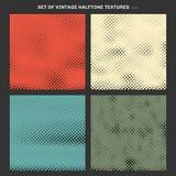 Set rocznik tekstury halftone skutek tworzył od kwadrata tła ilustracja wektor