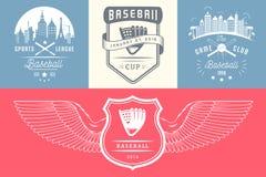 Set rocznika baseballa odznaki i logowie royalty ilustracja