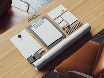 Set rocznika blanc elementy na naturalnym Obraz Stock