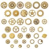 Set rocznika Cogwheel przekładni Machinalni koła obrazy royalty free