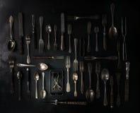 Set rocznika cutlery Zdjęcie Stock