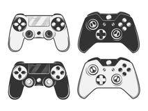 Set rocznika gamepad emblematy, etykietki, odznaki, logowie i projektów elementy, Obrazy Stock
