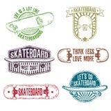 Set rocznika koloru logowie, odznaki, odznaki, etykietki Royalty Ilustracja