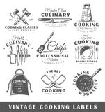 Set rocznika kucharstwa etykietki ilustracji