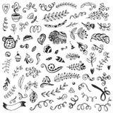 Set rocznika nakreślenia elementy Obrazy Royalty Free
