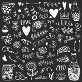 Set rocznika nakreślenia elementy Obrazy Stock