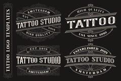 Set rocznika tatua?u emblematy, logo, odznaki ilustracji