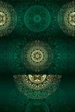 Set roczników kwieciści tła Fotografia Royalty Free