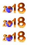Set roku 2018 Ziemski gobe Zdjęcie Royalty Free