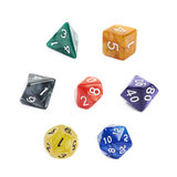 Set of roleplaying dices isolated Royalty Free Stock Photography