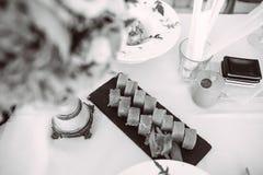 Set rolki na stole fotografia royalty free