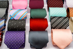 Set of rolled up neck ties Stock Image