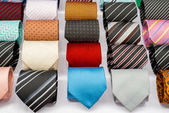 Set of rolled up neck ties Stock Images