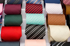 Set of rolled up neck ties Royalty Free Stock Photos