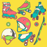 Set of roller skates Stock Images