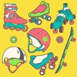 Set of roller skates Stock Images