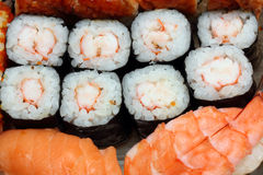 Set of rolls and sushi Stock Images