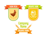 Set Rolne rolnictwo ikony Obrazy Stock
