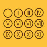 Set Roman numerals 1-12 icon. The set Roman numerals 1-12 icon stock illustration
