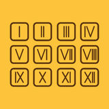Set Roman numerals 1-12 icon. The set Roman numerals 1-12 icon royalty free illustration