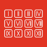 Set Roman numerals 1-12 icon. The set Roman numerals 1-12 icon vector illustration