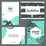 Set of romantic abstract cards Royalty Free Stock Image