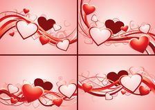 Set of romantic backgrounds Royalty Free Stock Photography