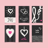 Set of romantic cards. Vector illustration Stock Image