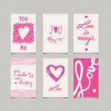 Set of romantic cards. Vector illustration Royalty Free Stock Image