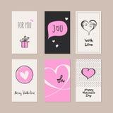 Set of romantic cards vector illustration