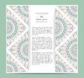 Set of romantic circular greeting gentlecards and invitations. Royalty Free Stock Photography