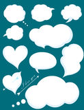Set of Romantic Love or Cloud Communications. Vector illustratio. N on a dark background Royalty Free Stock Photography