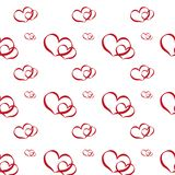 Set of romantic red heart on valentine love day vector illustration