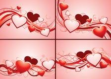 Set romantische Hintergründe Lizenzfreie Stockfotografie