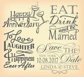 Set romantyczni znaki Obraz Stock
